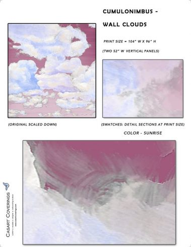 Casart coverings_Cumuloninbus_Wall Cloud Sunrise Sample_temporary wallpaper