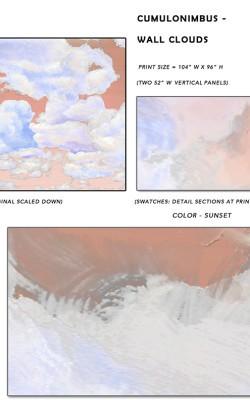Casart coverings_Cumuloninbus_Wall Cloud Sunset Sample_temporary wallpaper