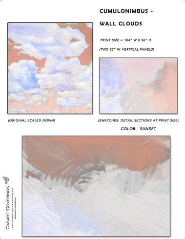 Casart coverings_Cumuloninbus_Wall Cloud Sunset Sample_temporary wallpaper
