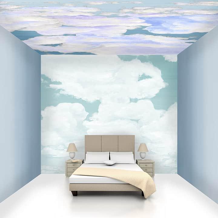 Casart coverings Cumulonimbus Cloud Room with Ombre Gradient walls