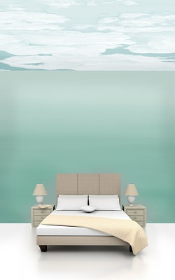 Casart coverings Ocean Gradient 1 room view