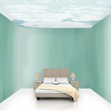 Casart coverings Ocean Gradient 3 room view