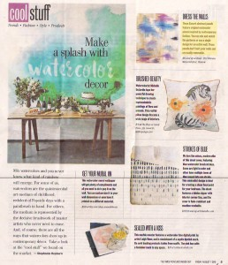Times Picayune – Watercolor Decor