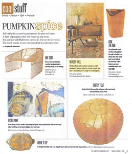 Casart coverings Orange Faux Linen is featured in the Times Picayune, Cool Stuff article Pumpkin Spice
