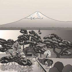 Casart coverings_Japan Panel Color_Sepia_468x864_temporary wallpaper
