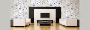 Casart Coverings Reposition Remove Reuse Wallpaper Shells Self-Adhesive Wallpaper in Entertainment Room Slider