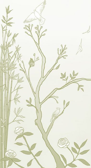 Casart_Chinoiserie Mural Panel 1_CeladonGradient_464x864_temporary wallpaper