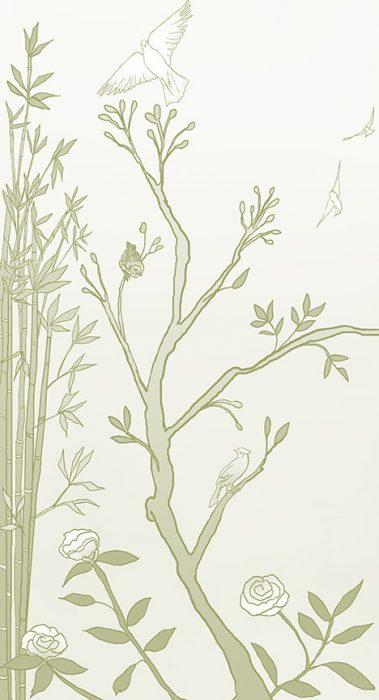 Casart_Chinoiserie Mural Panel 1_CeladonGradient_464x864_temporary wallpaper