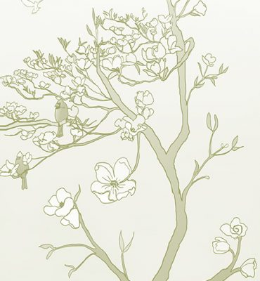 Casart coverings_Chinoiserie Mural Panel 2_CeladonGradient_464x864_removable wallpaper