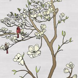 Casart coverings_Chinoiserie Mural Panel 2_color-silver raw silk_464x864_removable wallpaper