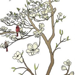 Casart coverings_Chinoiserie Mural Panel 2_color-white_464x864_removable wallpaper