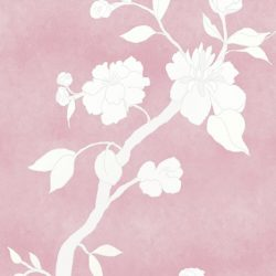 Casart coverings_Chinoiserie Mural Panel 3_desaturated-dustyroseCW_464x864_temporary wallpaper