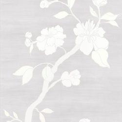 Casart coverings_Chinoiserie Mural Panel 3_desaturated-silver raw silk_464x864_removable wallpaper