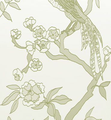 Casart coverings_Chinoiserie Mural Panel 4_CeladonGradient_464x864_temporary wallpaper