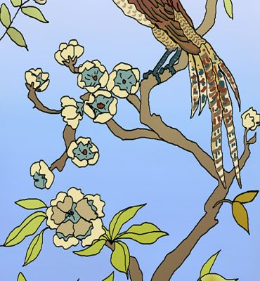 Casart coverings_Chinoiserie Mural Panel 4_color-GradientSky_464x864_removable wallpaper