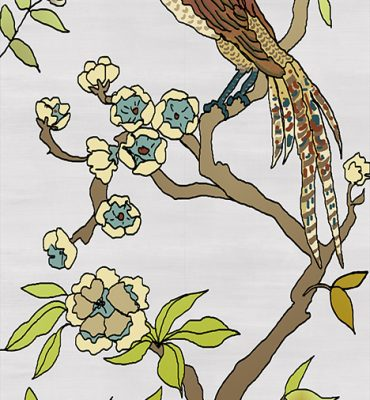 Casart coverings_Chinoiserie Mural Panel 4_color-silver raw silk_464x864_removable wallpaper