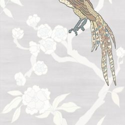 Casart coverings_Chinoiserie Mural Panel 4_desat-silver raw silk_464x864_temporary wallpaper