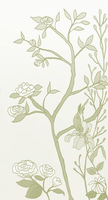 Casart coverings_Chinoiserie Mural Panel 5_CeladonGradient_464x864_temporary wallpaper