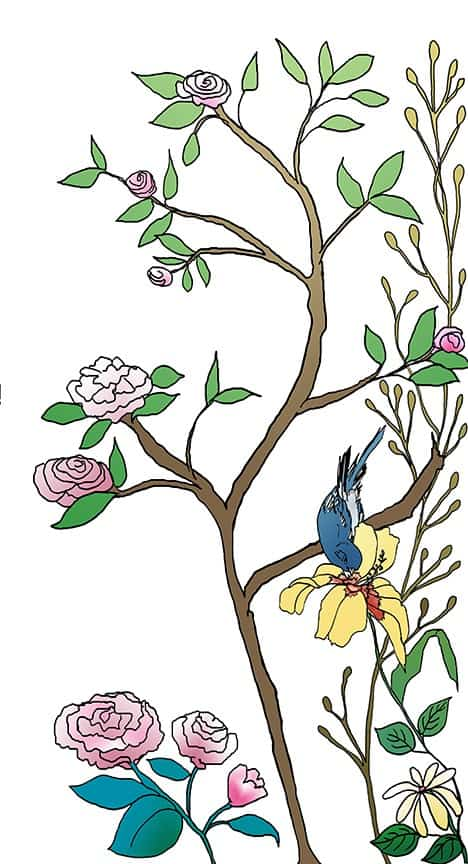 Casart coverings_Chinoiserie Mural Panel 5_color-white_464x864_temporary wallpaper