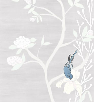 Casart coverings_Chinoiserie Mural Panel 5_desaturated-silver raw silk_464x864_temporary wallpaper