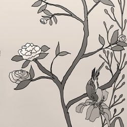 Casart coverings_Chinoiserie Mural Panel 5_sepia_464x864_removable wallpaper