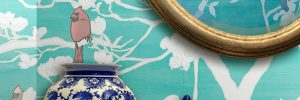 Casart Chinoiserie in a removable, reusable wall covering - Slider image