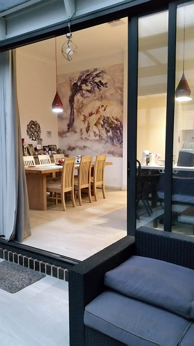 Casart customer After Impasto Tree Mural in Kitchen 4 with self-adhesive wallpaper