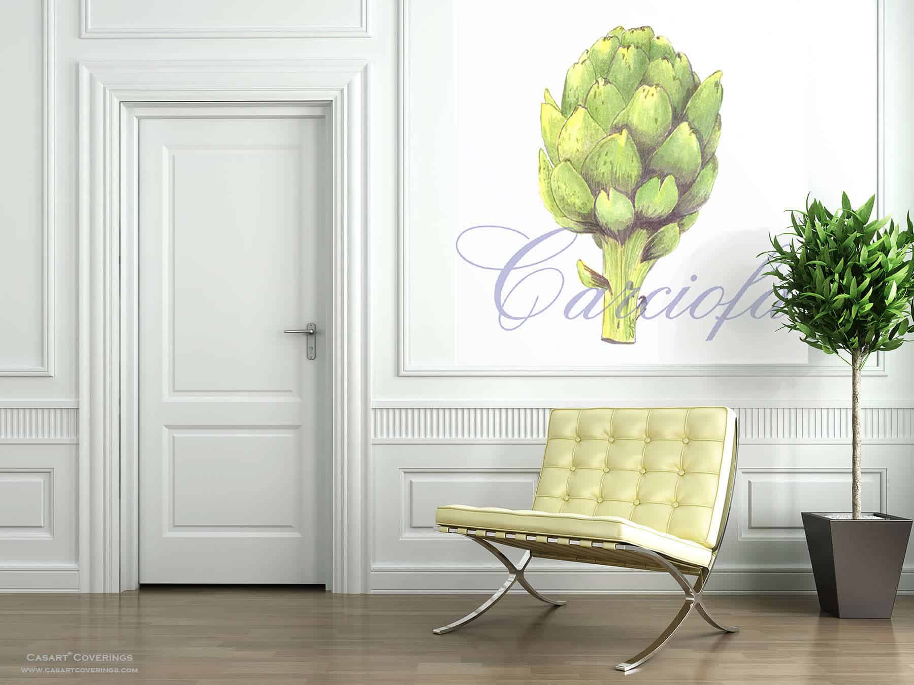 Casart Coverings Artichoke self-adhesive wallpaper Room View