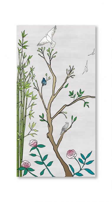 Casart Coverings 1_chinoiserie-panel_color-silver-raw-silk_gallery wrap canvas prints