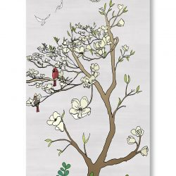 Casart Coverings 2_chinoiserie-panel_color-silver-raw-silk_gallery wrap canvas prints