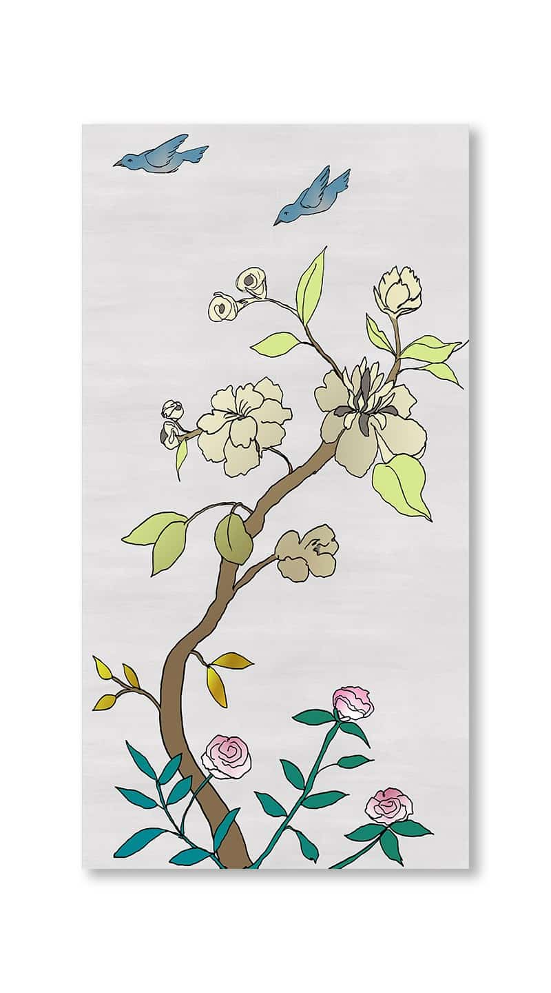 Casart Coverings 3_chinoiserie-panel_color-silver-raw-silk_gallery wrap canvas prints