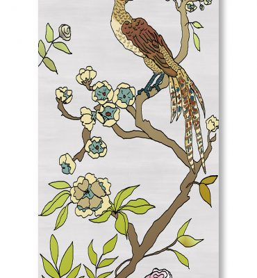 Casart Coverings 4_chinoiserie-panel_color-silver-raw-silk_gallery wrap canvas prints