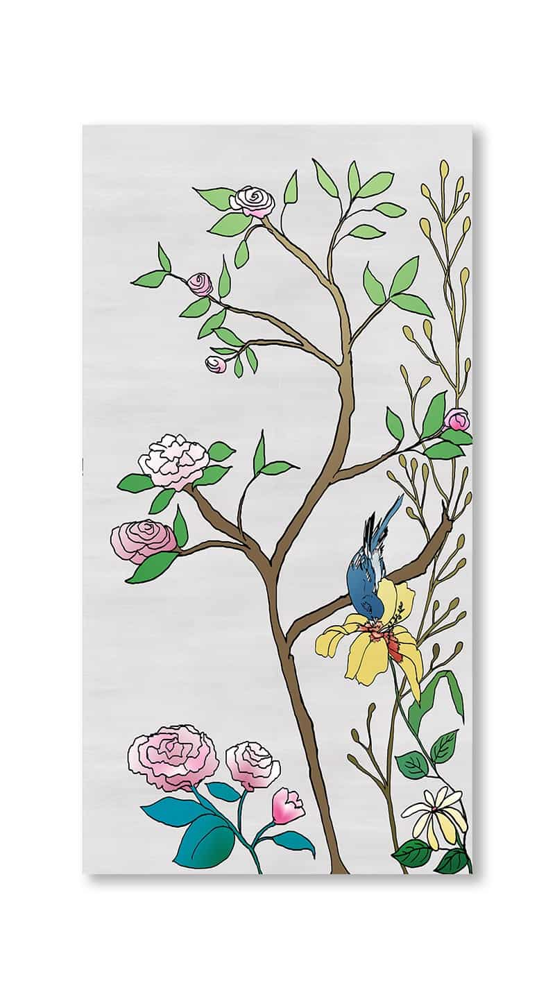Casart Coverings 5_chinoiserie-panel_color-silver-raw-silk_gallery wrap canvas prints