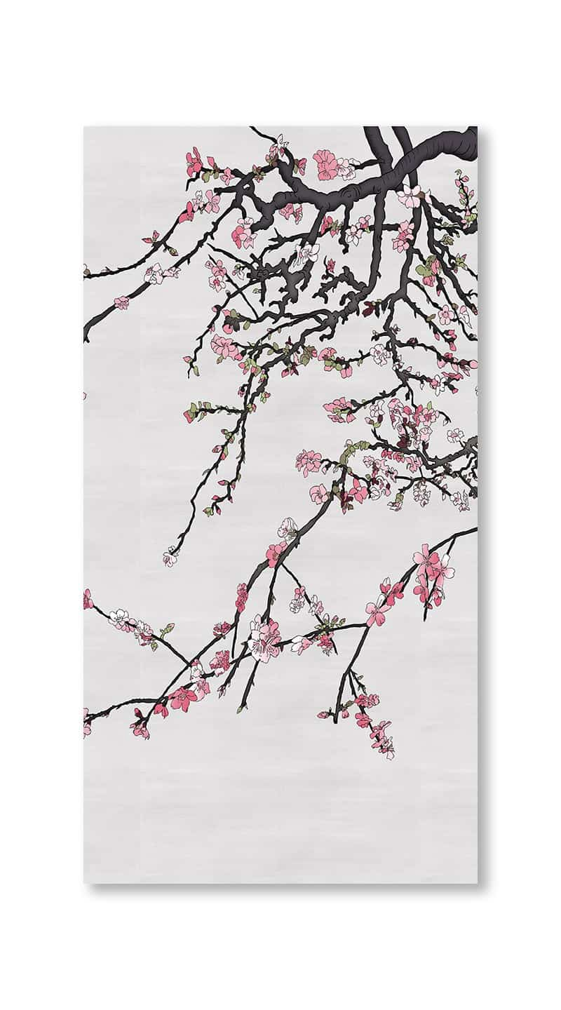 Casart Coverings asia-blossom-almond-1-colored-gray_gallery wrap canvas prints