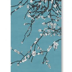 Casart Coverings asia-blossom-almond-3-white-van-gogh-blue_gallery wrap canvas prints