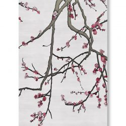 Casart Coverings asia-blossom-plum-1-colored-gray_gallery wrap canvas wrap prints