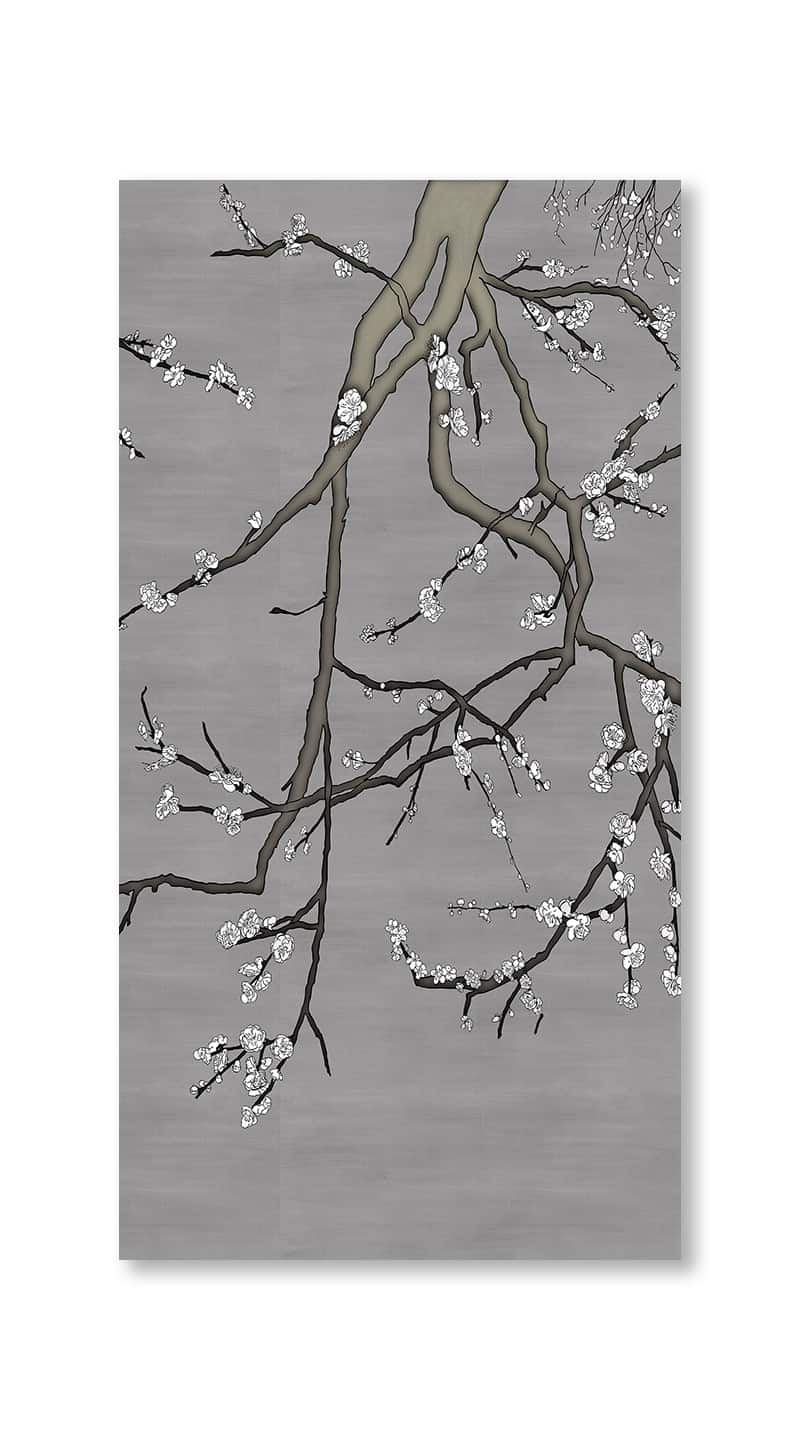 Casart Coverings asia-blossom-plum-4-white-pewter_gallery wrap canvas prints