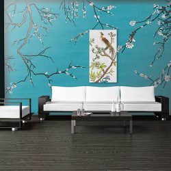 Casart Coverings Gallery Wrap Canvas in Modern Asia Blossom removable wallpaper Living Room