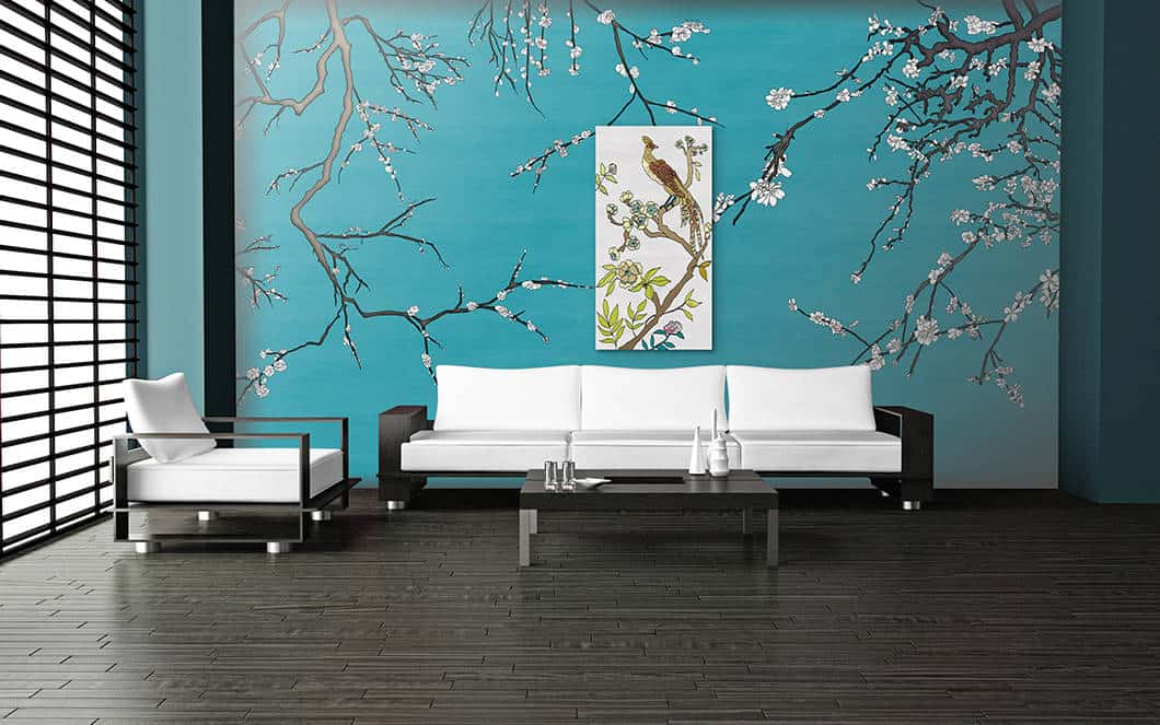 Casart Coverings Gallery Wrap Canvas in Mod Asia Blossom LVRM