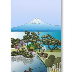 Casart Coverings Japan Mural as gallery wrap printed canvas art