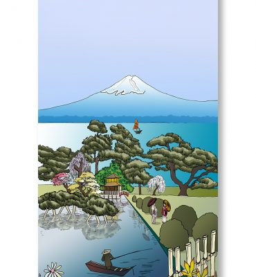 Casart Coverings Japan Mural as gallery wrap printed canvas art