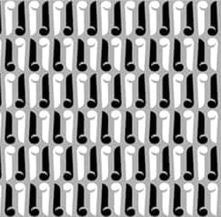 Sm Keyhole Black_White_Gray Pattern 3 Repeat for Casart Coverings removable wallpaper