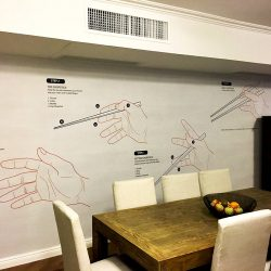 Casart Coverings Customer Chopsticks Mural_temporary wallpaper