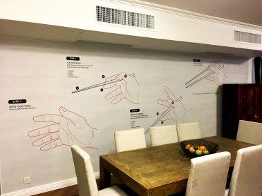Casart Coverings Customer Chopsticks Mural_temporary wallpaper