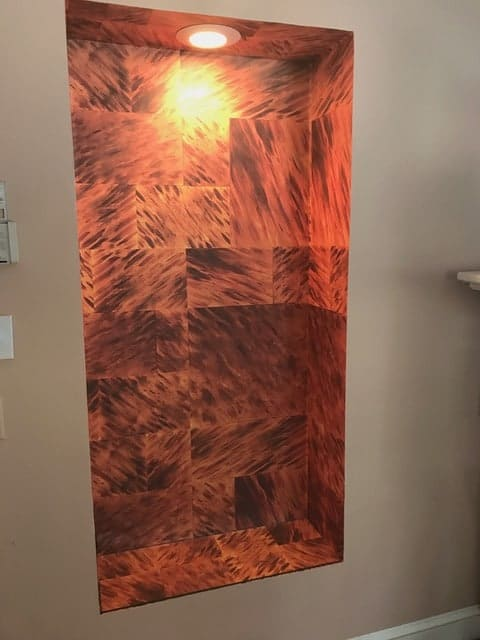 Pegasus Interiors_Casart Coverings Fx Tortoiseshell temporary wallpaper install