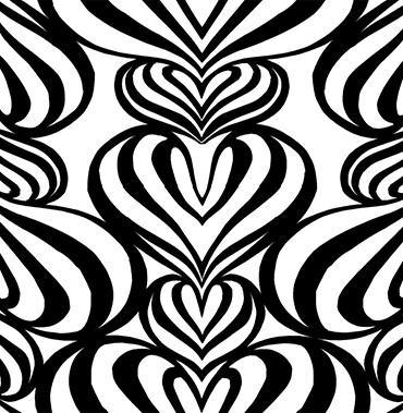 Lovelace Black-White Pattern 3 POZdesigns for Casart Coverings removable wallpaper