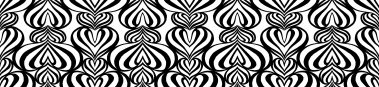 Lovelace Black-White Pattern Repeat 3 POZdesigns for Casart Coverings removable wallpaper
