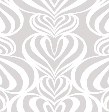 Lovelace White-Gray Pattern 1 POZdesigns for Casart Coverings removable wallpaper