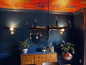 Custom Kristin Nicholas Garden Ceiling Mural Install