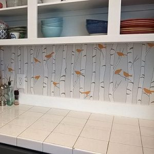 Kitchen is Transformed with Birds & Birch Backsplashes